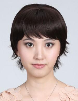 时尚帅气无痕隐形刘海头顶假发片增发 短发补发块