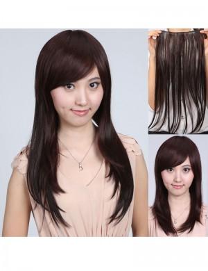 新款女生长直发接发片 一片式假发片增发直发片