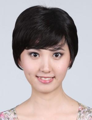 短发气质时尚无痕隐形斜刘海头顶假发片 增补发刘海片补发块