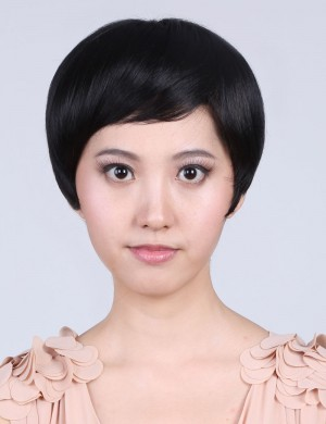 短发时尚型女无痕刘海头顶假发片 增厚刘海片补发块局部假发