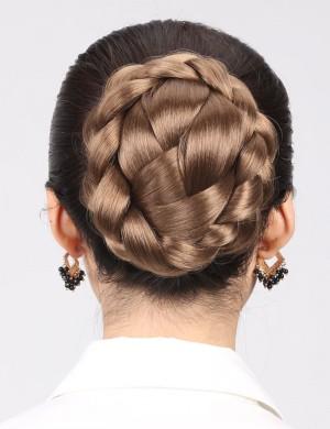 新娘发髻盘发古装发髻造型高温丝盘头饰直接扣发包