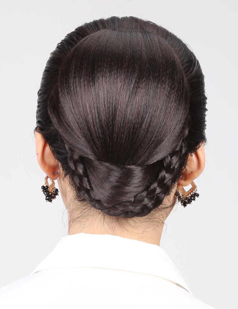 新娘发包盘发髻古典造型大发包盘头饰直接扣发包