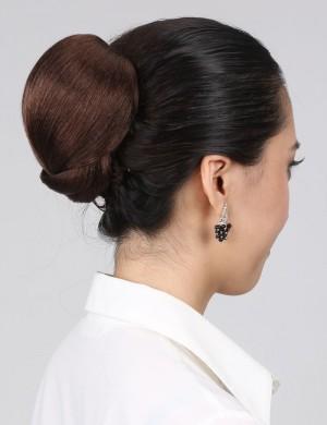 新款简单盘发发髻复古扣式花苞新娘造型发包