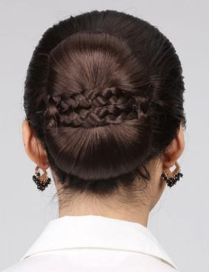 气质OL型新娘发髻盘发古装大发包盘头饰扣发包