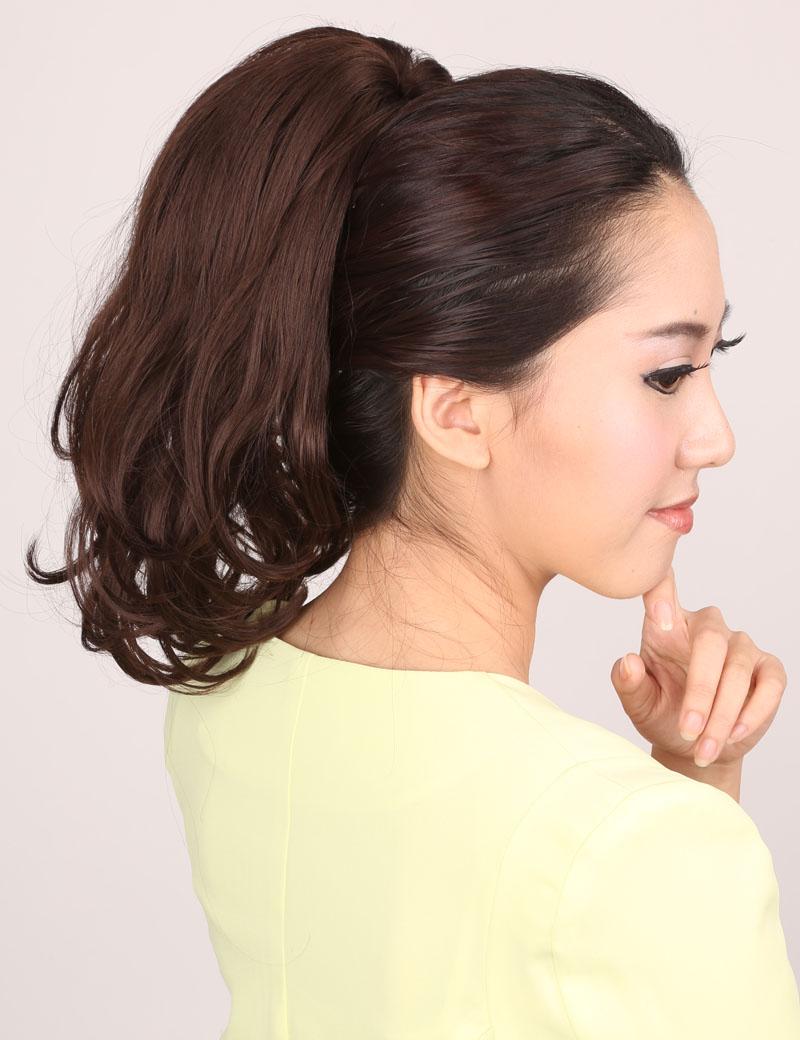 时尚帅气蓬松梨花卷夹式马尾发片