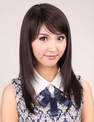 刘海长直发时尚女碎直发甜美可爱型假发