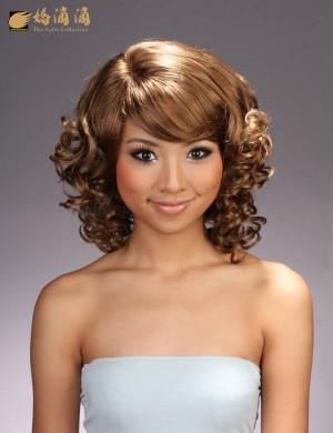 韩式发型蛋卷头恬静美丽假发