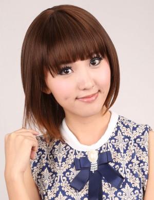 甜美可爱型短发修脸齐刘海bobo短直发
