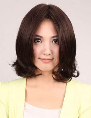 中分刘海蓬松甜美可爱中长卷发