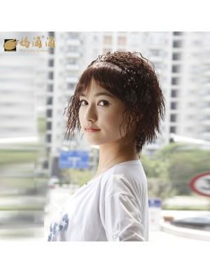 短卷发齐刘海时尚女玉米烫高温丝假发套