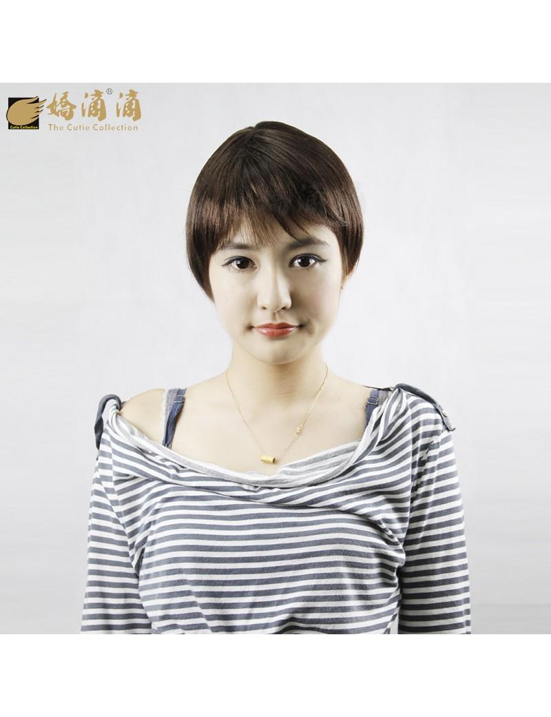 帅气齐刘海bobo头短发蘑菇头假发