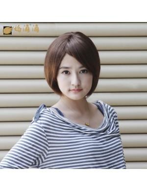 斜刘海BOBO头时尚女短发学生发型帅气假发