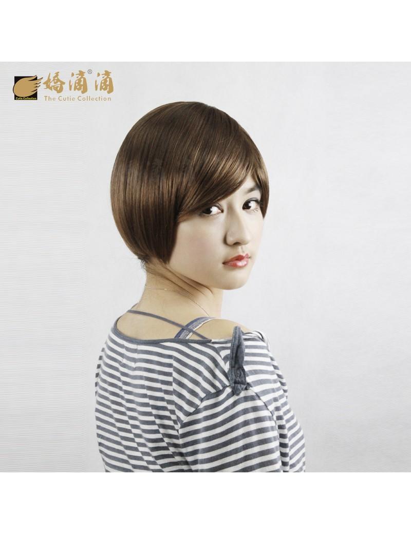 新款女生修脸型头发BOBO短发帅气假发套