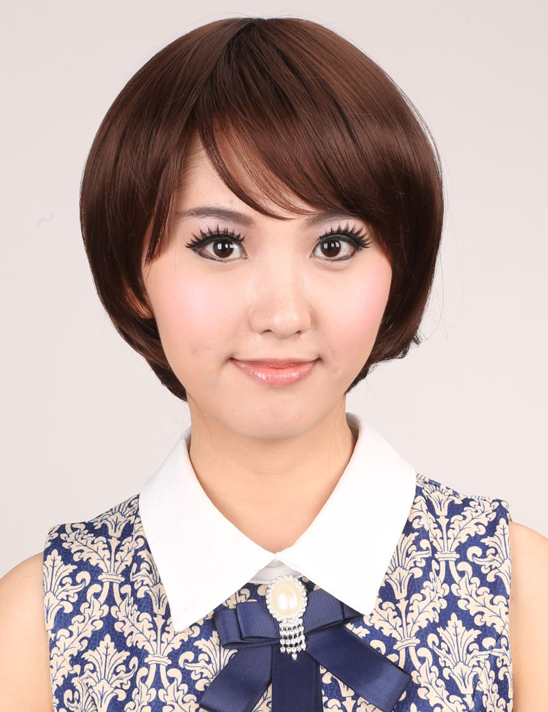 短直发BOBO头可齐可斜刘海甜美可爱型时尚女