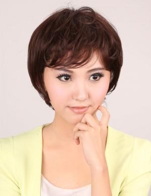 短卷发BOBO头蓬松斜刘海气质OL型时尚女