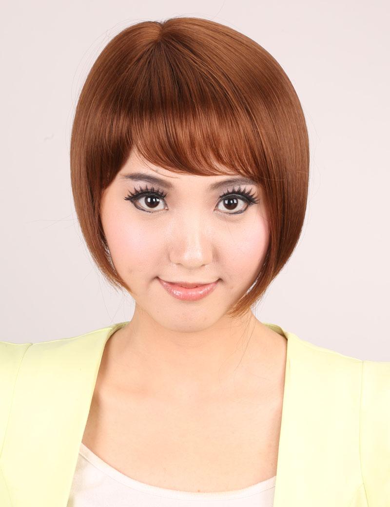 短发蓬松斜刘海bobo头气质OL型时尚女