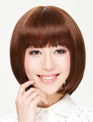 齐刘海bobo头时尚短发女生假发